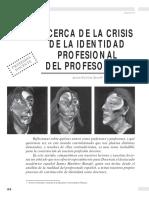 Acerca de La Crisis de La Identidad Profesional Del Profesorado