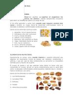 Alimentos Nutritivos y No Nutritivos