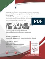 Presentazione libro. Low dose medicine e infiammazione. Dr LOZZI