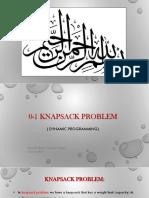 0-1 Knapsack Rida Presentation