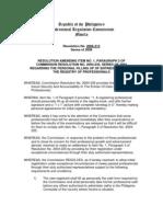 PRC Resolution No. 2006-313 Series of 2006