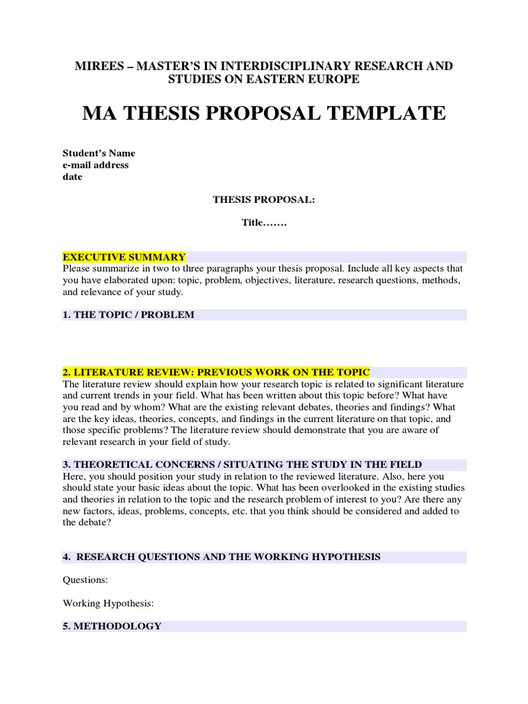 mirees ma thesis proposal pdf | Thesis | Literature Review