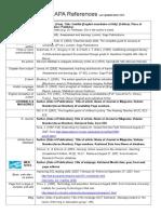 APA Referencing Sheet 2010-2