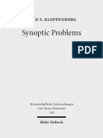 Kloppenborg Synoptic Problems