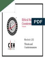 CEHv6 Module 61 Threats and Countermeasures
