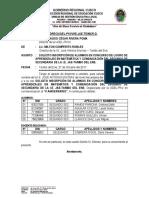 OFICIO Nº 028-2017 SOLICITO Inscripcion Ugel Pkv