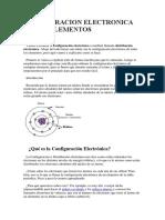 Configuracion Electronica de Los Elementos
