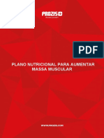 Plano Nutricional Aumentar Massa Muscular