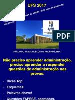 UFS 2017 Parte 1 Planejamento e Organizacao