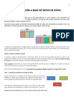 INTRODUCCIoN a Base de Datos en Excel