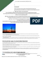 ¿Cómo Se Obtiene La Electricidad Industrial