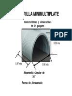 Dimensiones Alcantarilla Minimultiplate de 36