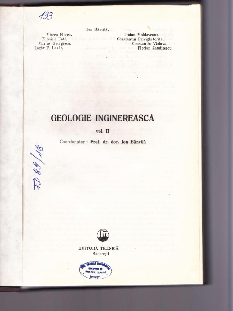 Bancila Geolgie Inginereasca 2