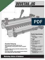 Manual Maquina Lazos Screwfix Dovetail Jig