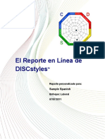 Disc Espanol Sample Report