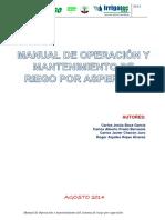Manual de Operacion y Matenimiento Agosto-2014-Tecnoriego