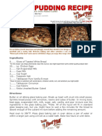 Bob Levin-Bread Pudding Recipe