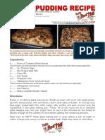 Bob Levin-Bread Pudding Recipe