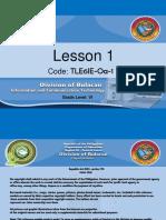 Lesson 1 (Tle6ie Oa 1)