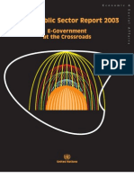 World Public Sector Report 2003 - E-Government at the Crossroads