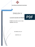 Claudio Galeno de Pérgamo Tuto de Ingles 5