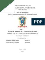 ESTUDIO DEL  FENÓMENO  DE LA  CAVITACIÓN  EN UNA BOMBA.docx