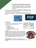 Protesis Parcial Removible Con Material Metalico