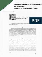 CAMPO LUGAR en el Interrogatorio de la Real Audiencia de Extremadura de 1791