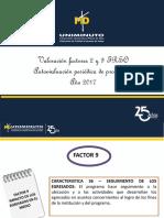 Valoración Factor 9 y 2 TRSO 2017