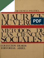 Maurice Duverger Metodos de Las Ciencias Sociales