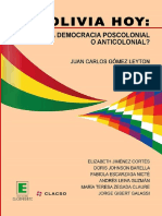 Bolivia Hoy. Una Democracia Poscolonial o Anticolonial
