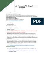 Gestión de Proyectos y PMI - Universidad Para Las Naciones