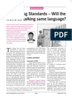 Accounting Standards - Will the World Be Talking the Same Language - Published in CA Journal Feb 2005