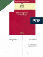 Roberto Heredia Correa, El Apologético de Tertuliano