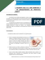 Cuidados Tratamiento de Braquiterapia de Próstata Semillas Yodo Revisado