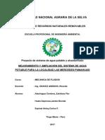 Mejoramiento y Ampliación Del Sistema de Agua Potable Para La Localidad Las Mercedes-Pumahuasi