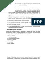 Informe Documentacion Requerida en La Negociacion Internacional
