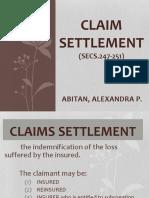 Claim Settlement (Secs