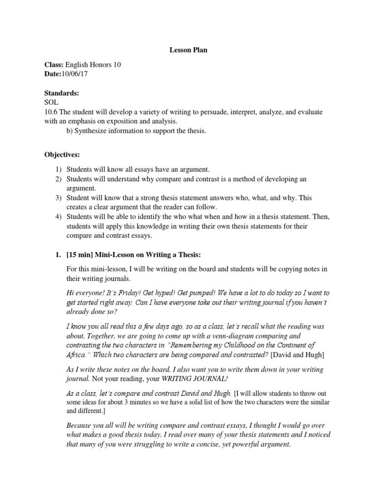 compare and contrast essay topics