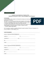Modulo Iscrizione Calcio a 5