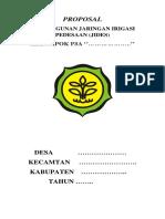 Contoh Proposal Pembangunan Jaringan Irigasi Pedesaan (Jides)