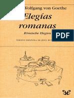 Goethe, Johann Wolfgang Von - Elegias Romanas (Trad. J. Munarriz) [40932] (r1.0)