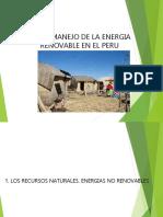 USO Y MANEJO DE ENERGIA RENOVABLE EN EL PERU
