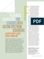 providing college readiness counselingfor students with autism spectrum disorders