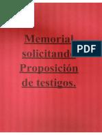 Memorial Proposición Testigos