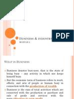 MODULE 2_Industry & Business