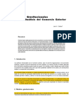 4 Modelos Gravitacionales Para El Analisis Del Comercio
