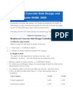 Reinforced Concrete Slab Design