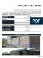 Informe de Avance de Obra - Lobo Tahuantinsuyo Transporte