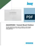 AQUAPANEL Cement Board Outdoor Datasheet 0817